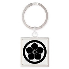 Balloon flower in circle Square Keychain