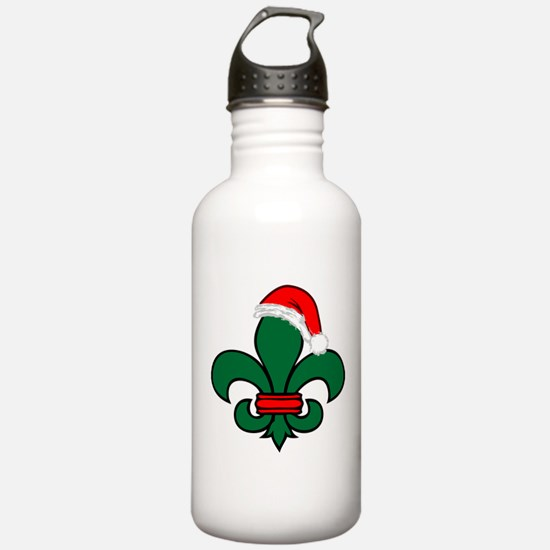 Fleur De Lis Santa Water Bottle