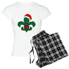 Fleur De Lis Santa Pajamas