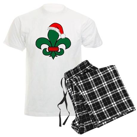 Fleur De Lis Santa Men's Light Pajamas