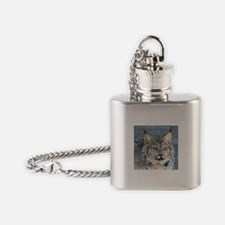 Canada Lynx Flask Necklace