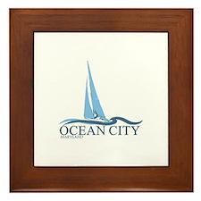 Ocean City MD - Sailboat Design. Framed Tile