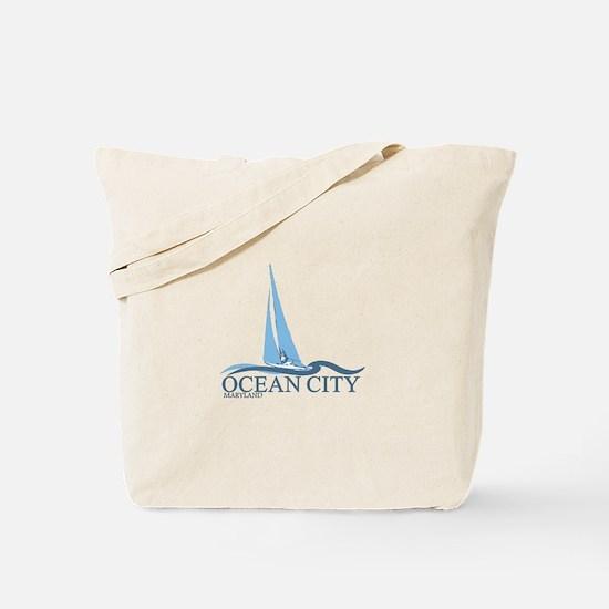 Ocean City MD - Sailboat Design. Tote Bag