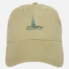 Ocean City MD - Sailboat Design. Baseball Baseball Cap