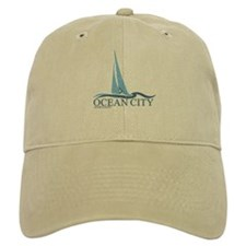 Ocean City MD - Sailboat Design. Baseball Cap