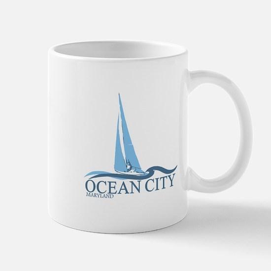 Ocean City MD - Sailboat Design. Mug