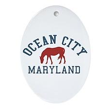 Ocean City MD - Ponies Design. Ornament (Oval)