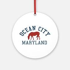 Ocean City MD - Ponies Design. Ornament (Round)