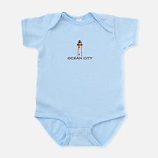 Ocean City MD - Lighthouse Design. Infant Bodysuit