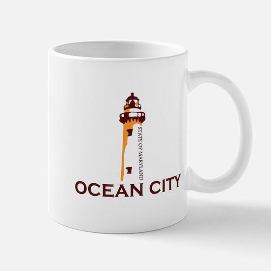 Ocean City MD - Lighthouse Design. Mug