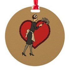 Retro Maid Ornament