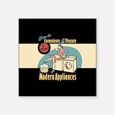 """Retro Modern Appliances Square Sticker 3"""" x 3"""""""