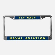 Fly Navy License Plate Frame
