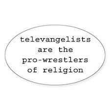 TELEVANGELISTS WRESTLERS RELIGION Decal