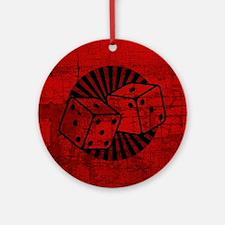 Retro Red Dice Ornament (Round)