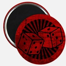 Retro Red Dice Magnet