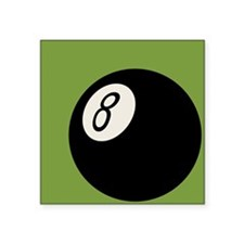"Retro 8-Ball Square Sticker 3"" x 3"""