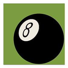 """Retro 8-Ball Square Car Magnet 3"""" x 3"""""""