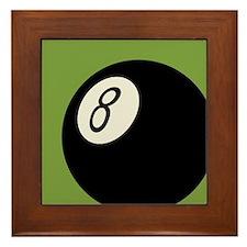 Retro 8-Ball Framed Tile