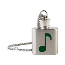 Music Note Flask Necklace