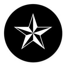 Nautical Star Round Car Magnet