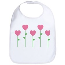 Heart Flowers Bib