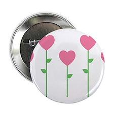"""Heart Flowers 2.25"""" Button"""