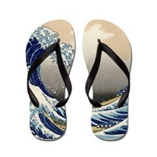 Japanese Tsunami Art Flip Flops
