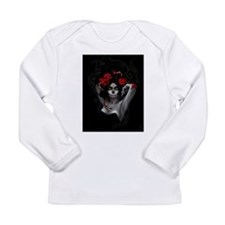 painted sugar skull seniorita Long Sleeve Infant T