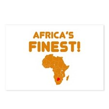 Botswana map Of africa Designs Postcards (Package