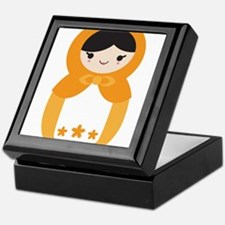 Matryoshka Doll - Orange Keepsake Box