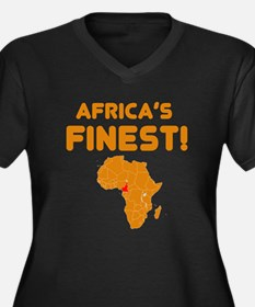 Cameroon map Of africa Designs Women's Plus Size V