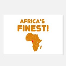 Cameroon map Of africa Designs Postcards (Package