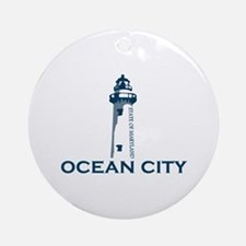 Ocean City MD - Lighthouse Design. Ornament (Round