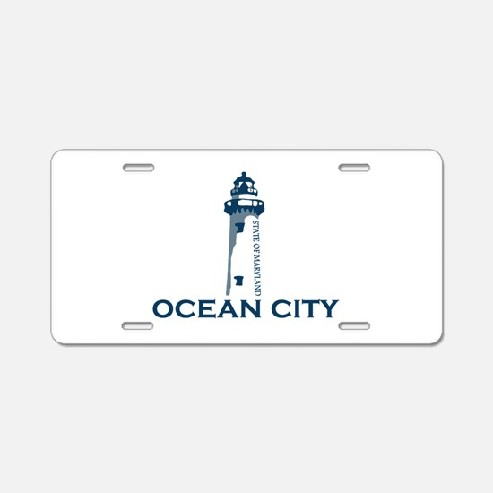 Ocean City MD - Lighthouse Design. Aluminum Licens