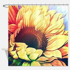Festive Sunflower Shower Curtain