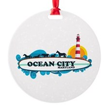 Ocean City MD - Surf Design. Ornament