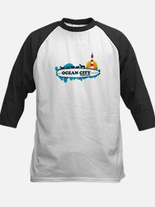 Ocean City MD - Surf Design. Kids Baseball Jersey