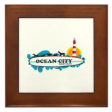 Ocean City MD - Surf Design. Framed Tile