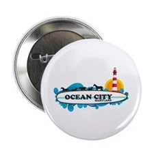 "Ocean City MD - Surf Design. 2.25"" Button"