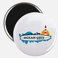 Ocean City MD - Surf Design. Magnet