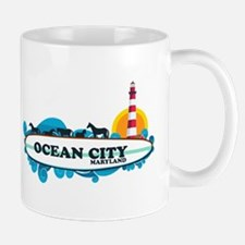 Ocean City MD - Surf Design. Mug