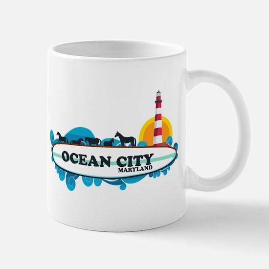 Ocean City MD - Surf Design. Mug
