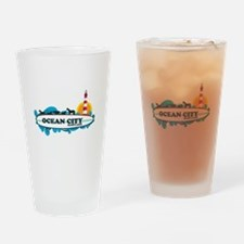 Ocean City MD - Surf Design. Drinking Glass
