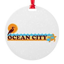 Ocean City MD - Beach Design. Ornament