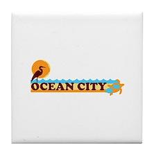 Ocean City MD - Beach Design. Tile Coaster