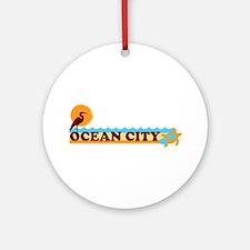 Ocean City MD - Beach Design. Ornament (Round)
