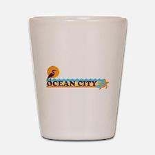 Ocean City MD - Beach Design. Shot Glass