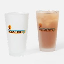Ocean City MD - Beach Design. Drinking Glass