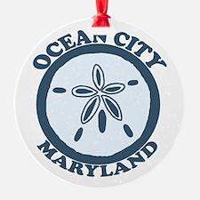 Ocean City MD - Sand Dollar Design. Ornament